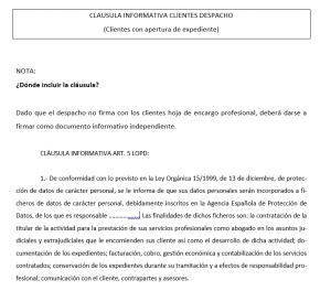El abogado ante el deber de información al cliente según el nuevo RGPD